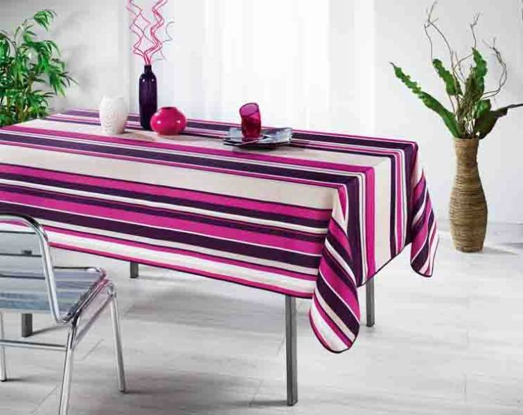 nappe anti tache polyester bayad re fushia 148 x 300 cm souvenirs et id es cadeaux de. Black Bedroom Furniture Sets. Home Design Ideas