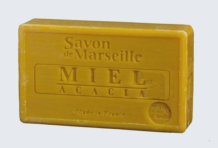 savon de marseille cellophan miel acacias 100g le chatelard souvenirs et id es cadeaux de. Black Bedroom Furniture Sets. Home Design Ideas