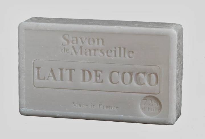 savon de marseille cellophan parfum lait de coco le chatelard 100g le chatelard souvenirs. Black Bedroom Furniture Sets. Home Design Ideas