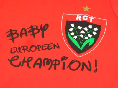 Grenouillère Baby Europeen Champion RCT Rugby Club Toulonnais (Manches Longues)