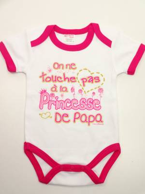 Body Humour BéBé On Ne Touche Pas a La Princesse De Papa
