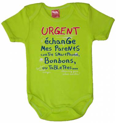 Body Humour URGENT Echange Mes Parents Contre Smartphone Bonbons ou Tablette