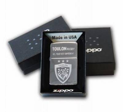Briquet Zippo High Polish USA RCT Rugby Club Toulonnais