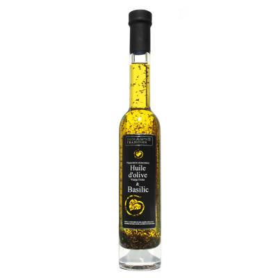 Huile d'Olive Vierge Extra aux Basilic 20 cl
