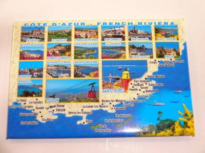 Magnet Photo Littoral Cote D'Azur French Riviera