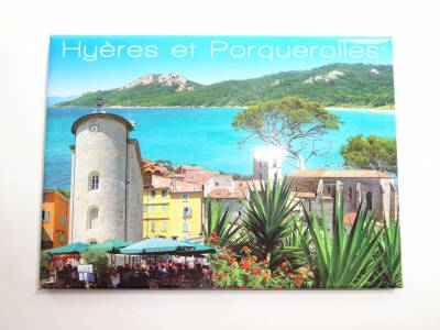 Magnet Photo Grand Model Hyeres Les Palmiers Porquerolles 3D