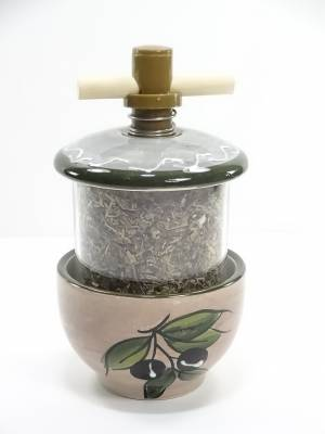 Moulin à Herbes De Provence Theme Olive (Marron Clair)
