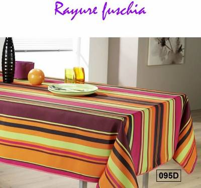 Nappe ronde Anti Tache Polyester Multicolore Orange Marron (Diamètre 160 cm)