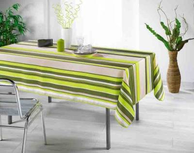 Nappe Anti Tache Polyester New Bayadere Anis(148 x 200 cm)