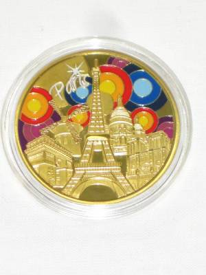 Piece Ou Medaille De Collection Paris Tour Effel (40 mm)