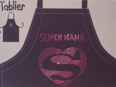 Tablier Humour Femme Super Nana (Vices De Forme)
