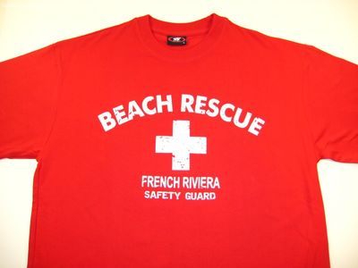 Tee Shirt Humour Pas Cher BEACH RESCUE