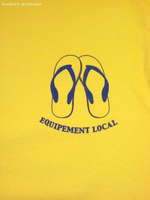 Tee Shirt Humour Pas Cher EQUIPEMENT LOCAL