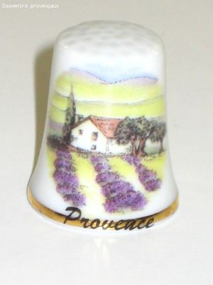 Dé à Coudre De Collection en Porcelaine Maison De Provence