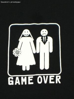 Tee Shirt  Humour Femme Game Over