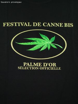 Tee Shirt Humour Drole Décalé FESTIVAL DE CANNE BIS PALME D'OR SELECTION OFFICELLE (VDF)