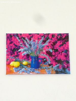 Magnet Aimant Photo Bouquet De Lavande Dans Son Pot Bleu