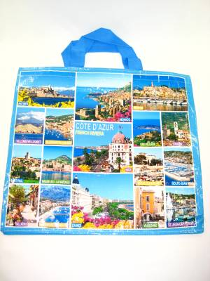 Sac Cabas Grand Modele Theme Cote D Azur French Riviera