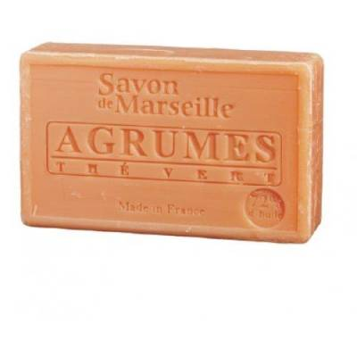 Savon De Marseille Cellophané Parfum Agrumes The Vert 100g (le Chatelard)