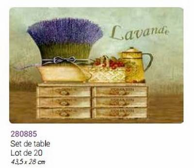 Set De Table Lavande Romarin Plastifié