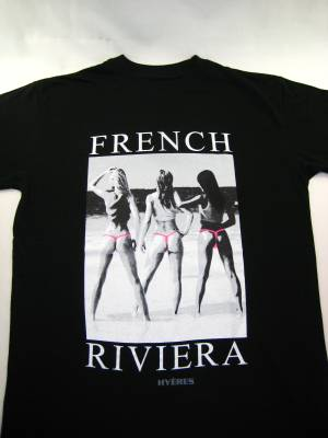 Tee Shirt FRENCH RIVIERA (noir)