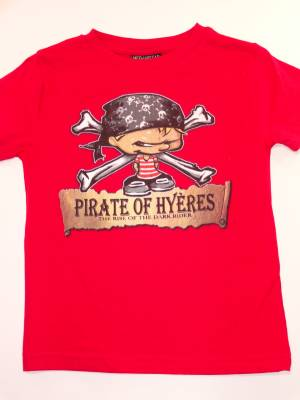 Tee Shirt Enfant Pirate Of Hyeres (Rouge)